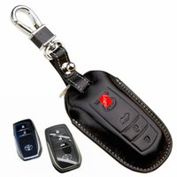 Wholesale Car Key Cover Remote control Key fob case For Toyota rav4 Camry highlander crown reiz Corolla leather keychain key holder shell rings