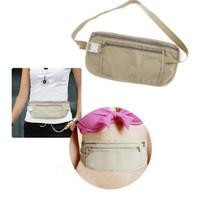 beverage belt - New New Security Travel Ticket Waist Purse Pouch Money Coin Cards Passport Belt Bag B43