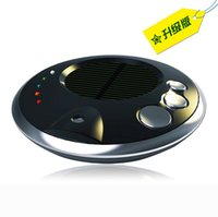 Wholesale 20 DHL Car Solar Anion Humidifier Aromatherapy Solar Charging Oxygen Bar Air Purifier Formaldehyde PM2