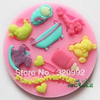 Wholesale NEW Cartoon Silicone molds Soap mold silicone Fondant molds Diy Cake decorating tools Cake Chocolate mold Baking tools
