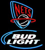 beer net - Revolutionary Neon Super Bright Bud Light NJ Nets Neon Beer Signs quot x20 quot Available multiple Sizes