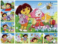 game dora - 40pcs pack Dora Puzzles Style For Choice Dora Characters Pattern Children Education Games Toys For Kids Gift H0574b