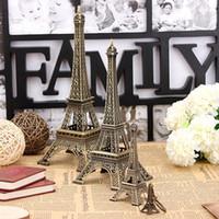 Wholesale Bronze Tone Paris Eiffel Tower Figurine Statue Vintage Model Home Decor Sizes order lt no track