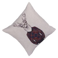 Cheap Vintage Pillow Case Deer Printed Home Pillow Cover Western Style Bedding Supplies EHE107-1*1