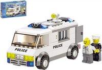 Wholesale 135pcs set DIY Prison Van Educational Plastic Toy Building Block Set For Children with the original box HX