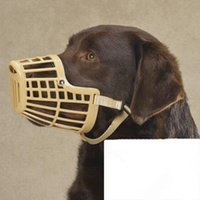 Wholesale Plastic Puppy Dogs muzzle mask Cage Basket with Adjustable Strap Bite Bark Chew Control pet training aid supplies
