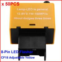 adjustable flasher relay - 50PCS CF18 KT LED Flasher Pin Adjustable Yellow Relay Module Fix Auto Turn Signal Error Flashing Blinker W For Toyota
