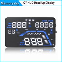 auto gps system - Universal quot Large Screen GPS Auto Car Q7 HUD Head Up Display KM h MPH Overspeed Warning Windshield Project Alarm System