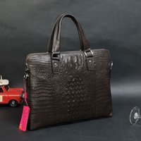 aluminum chain mail - 2016 men and women fashion classic weng crocodile leather shoulder bag computer bag empty the family package mail mail family pack