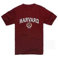 accept t shirts - Harvard University Cultivating T shirt Printing Summer Fashion Accept Customized Logo Cotton Women Men s t Shirt O neck C14