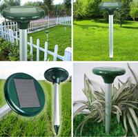 ultrasonic repeller - New Solar Power LED Ultrasonic Gopher Mole Snake Mouse Pest Repeller Control Garden Yard Tools Fast shipping