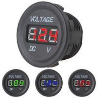 Wholesale Waterproof V V Car Motorcycle Blue Red Green LED DC Digital Display Voltmeter Meter CEC_506
