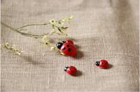 Wholesale Red Wood lady beetle for gardening ornaments bonsai plant bryophytes flower pot decoration ladybug mm