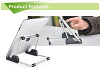 Wholesale 2015 Manufacturers selling lazy aluminum tablet phone holder Supporter for ipad inch Tablet PC Adjustable Desk Stand order lt no track