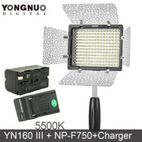 Wholesale Yongnuo YN160III K CRI95 LED Video Light with mAh NP F750 Battery Charger