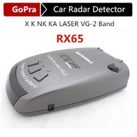 Wholesale Super Quality RX65 Car Radar Detector anti radar With Degree Detection POP Support X K NK KA LASER VG Band