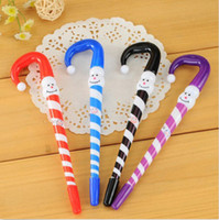 acrylic markers - Pens Markers Cartoon Christmas Snowman Umbrella Design Plastic Ballpoint Pens Good Quality Brand New Hot Sales