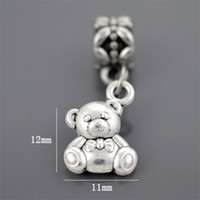 baby making music - 12 mm baby bear angel wings heart lock key Bead Silver Beads Fit pandora Bracelets boy kiss girl made with love moon anchor