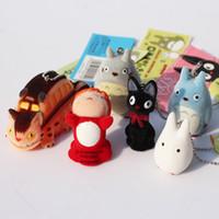 Wholesale 1set Japanese Hayao Miyazaki Cartoon Movie My neighbor Totoro Ponyo on the Cliff KiKis Delivery Service Figure Toy Keychains