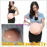 baby bump - 4KG Silicone Twins False Belly Baby Tummy False Pregnant Artificial Bump Good Quality Hot Selling