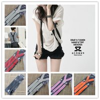 Wholesale New Mens Womens Elastic Clip on Solid Color Y Shape Adjustable Braces Suspenders