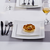 ECO Friendly square dinnerware - Square Porcelain Dinner Plate Dinnerware Set White quot Square Plate