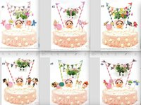 Wholesale Happy Birthday Cake Topper Set for Kids Birthday Party Decoration Supplies Boy Baby Shower Party Deco