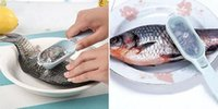 Wholesale fish scale scraper remover kitchen gadgets pp resin material grip handle free ship hot selling