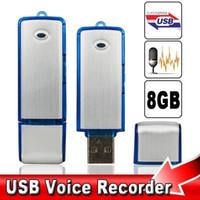 Wholesale 8GB USB Pen Voice Audio Recorder KBPS Flash Drive Mini Digital Dictaphone SK hours recording