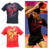 Wholesale 2014 LINING Incheon Asian Games men s table tennis clothes Only T shirt