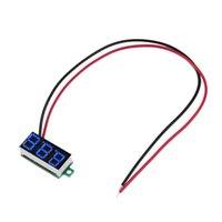 Wholesale DC V quot Wire LED Digital Panel Volt Meter Voltage Voltmeter Car Motor blue color