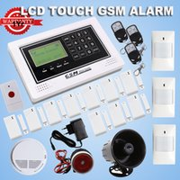 Wholesale 2014 Wireless LCD display GSM alarm system Touch keypad home Burglar Alarm System MHZ
