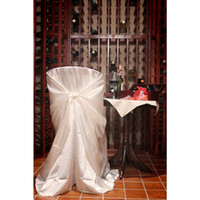Wholesale 50pcs Hot Sale Bag Self Tie Satin Chair Cover Universal Satin Chair Cover For Wedding Chair Cover