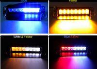 red emergency lights - Red Yellow Blue LED Car Light LED Strobe Flashing Warning Light Police Car Truck Light Flashing Firemen Fog Lights Emergency Lights