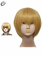 achat en gros de attaque titan armin perruque-Gros-Attack sur Titan Armin Arlert résistant à la chaleur fibre perruque cosplay