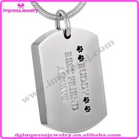 best pet tags - IJD8022 Buddy Best Friend Always Pet Dog Tags stainless steel Cremation Jewelry Pendant Keepsake Memorial Urn Necklace