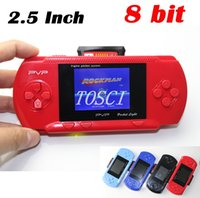 video games - 2 Inch bit Portable Handheld game player LCD Screen New PVP2 Portable Video Game Console free game card PVP retail package for children