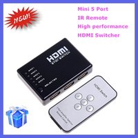 Wholesale Hot Sale Mini Port P Video HDMI Switch Switcher HDMI Splitter with IR Remote splitter box