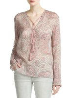 baroque times - Women Blouses Time limited Promotion None Regular Rayon Plus Size Autumn Slim Baroque Print Female Lacing Long sleeve Shirt FG1511