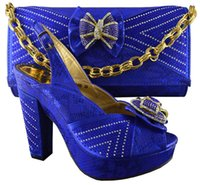 Cheap african shoes and handag Best high heel shoes with bag sets