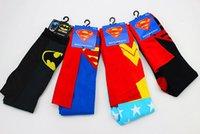 Wholesale Superhero Unisex Knee High Socks New Fashion Superman Batman Wonder Women Superhero Cosplay Costume Cartoon Printing Funky Socar Socks