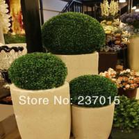 ball garden ornament - Fish Tank Green Grass Ball Plastic Plant Ornament Party Decoration Garden Decor