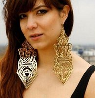 alphabet club - 12Pair women s earrings European Big Earring club station explosion super large super earring Fashion party sexy girl Earring Jewelry BFH785