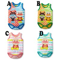 anpanman clothes - Hot Sale New Arrival Baby Clothing Anpanman Baby Bodysuits Boys Girls Sleeveless Jumpsuits Summer One pieces Roupas Bebes