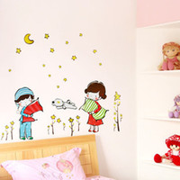 Wholesale Cartoon Good night PVC Wall Sticker Wall Decal Wallpaper Room Sticker House Sticker XY8043