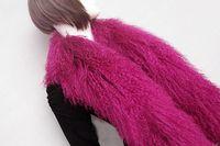 Wholesale Fashion luxuriant lamb fur mongolian fur beach fur winter warm genuine fur scarf warm collar
