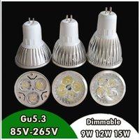 led bulb price - Factory Price GU LED Spot Light Bulb W W W V V Cold Warm White Dimmable LED Lamp High Quality CE FCC energy saving