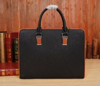 aaa quality handbags - brand handbags with logo for man fashion designer computer bag top quality super AAA briefcases for selling genuine leather bag