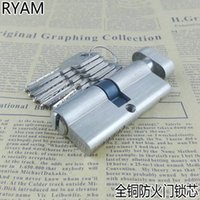 Wholesale Ryan whole copper mm door lock cylinder lock cylinder common unilateral door lock cylinder diameter MM