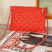 Les produits bon marché 014 femmes chaîne sac rivet enveloppe millésime jour d'embrayage en cuir des sacs à main de femmes Messenger Bag Totes gros